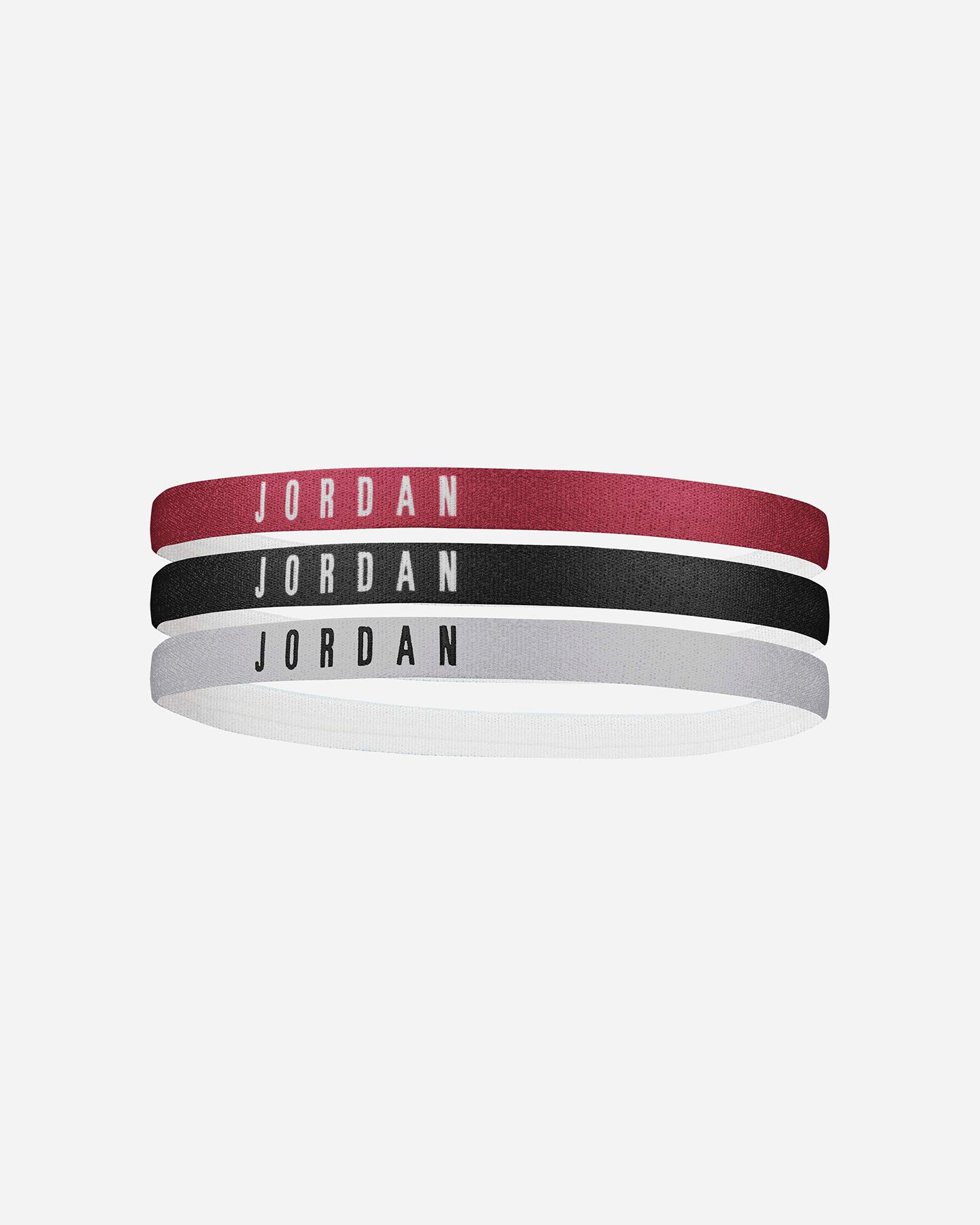 Nike J.000.3599.626.OS JORDAN HEADBANDS 3PK GYM RED SAÇ İPİ BANDI