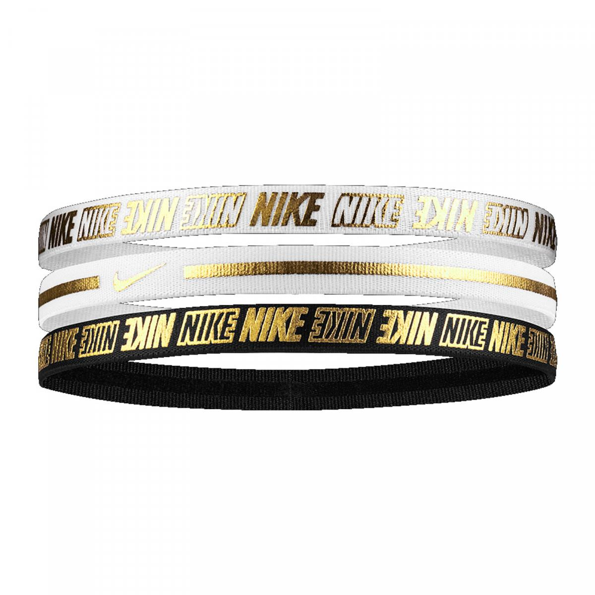 Nike N.000.2755.912.OS METALLIC HEADBANDS 3PK 2.0 WHITE SAÇ İPİ BANDI