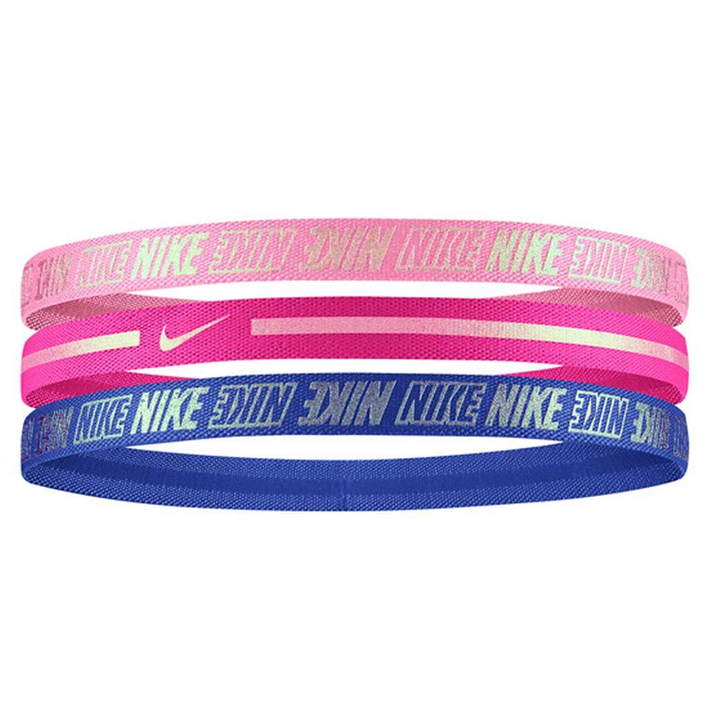 Nike N.000.2756.928.OS GIRL'S METALLIC HEADBANDS 3PK 2.0 MAGIC FLAMINGO SAÇ İPİ BANDI