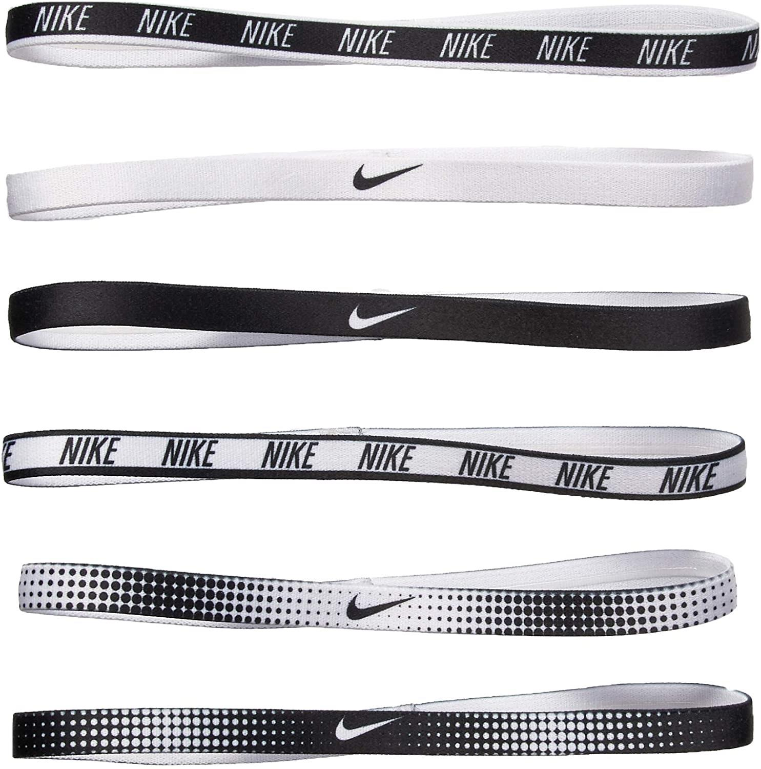 Nike N.JN.65.964.OS PRINTED HEADBANDS ASSORTED 6PK WHITE SAÇ İPİ BANDI