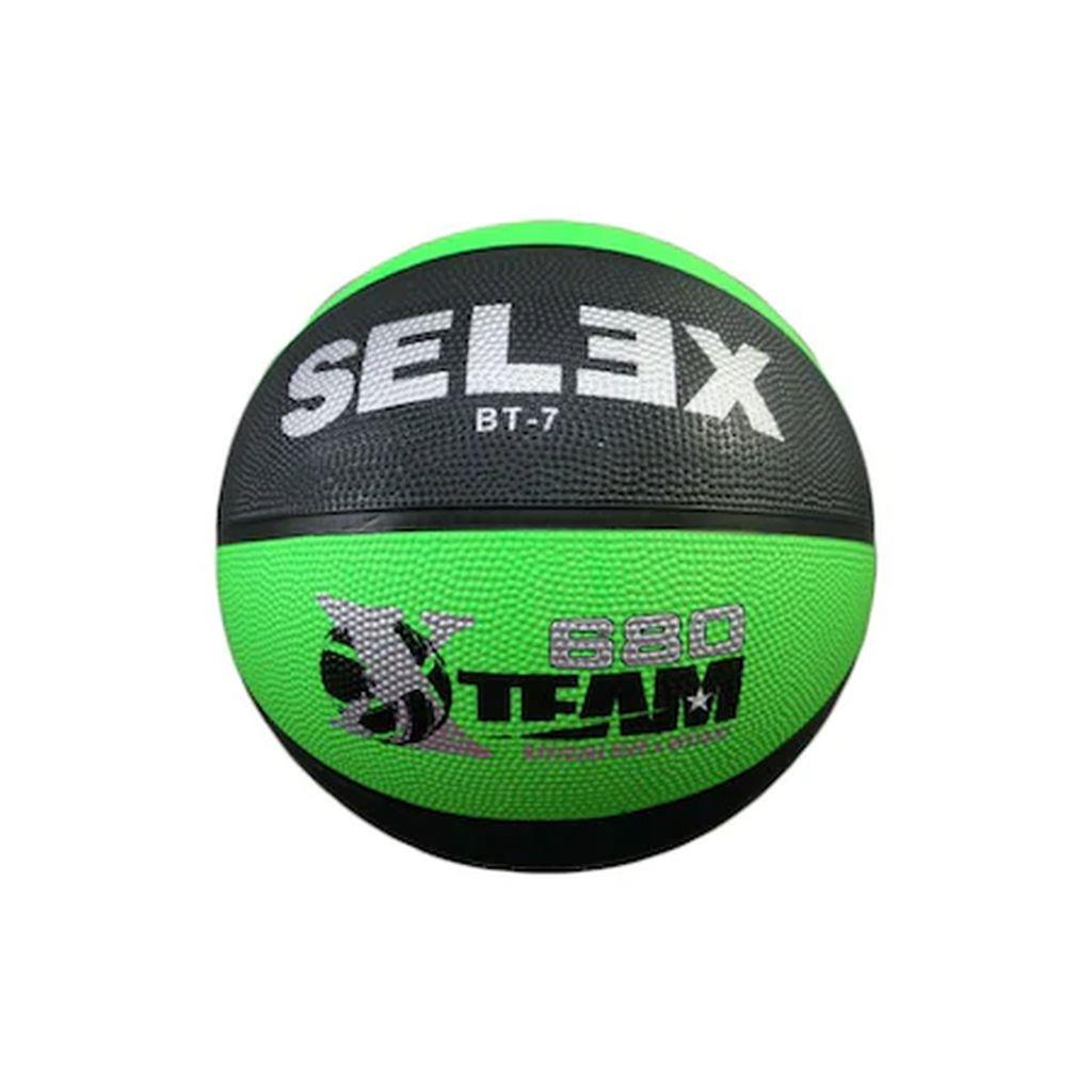Selex BT-7 GREEN-BLACK BASKETBOL TOPU BT - 7 NEON GREEN - BLACK